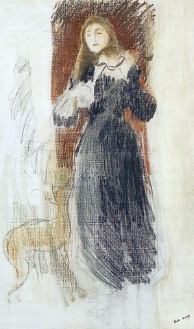 Berthe Morisot The Violin - Hand Painted Oil Painting
