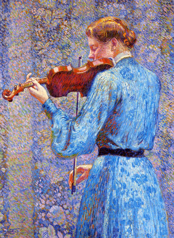 Theo Van Rysselberghe The Violinist - Hand Painted Oil Painting