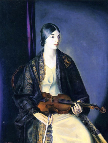 George Wesley Bellows The Violinist Leila Kalman - Hand Painted Oil Painting