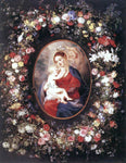 Peter Paul Rubens The Virgin and Child in a Garland of Flower - Hand Painted Oil Painting