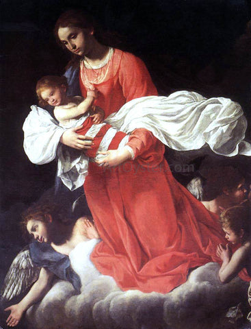 Giovanni Baglione The Virgin and the Child with Angels - Hand Painted Oil Painting