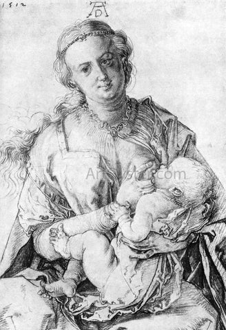 Albrecht Durer The Virgin Nursing the Child - Hand Painted Oil Painting