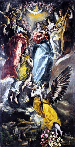 El Greco The Virgin of the Immaculate Conception - Hand Painted Oil Painting