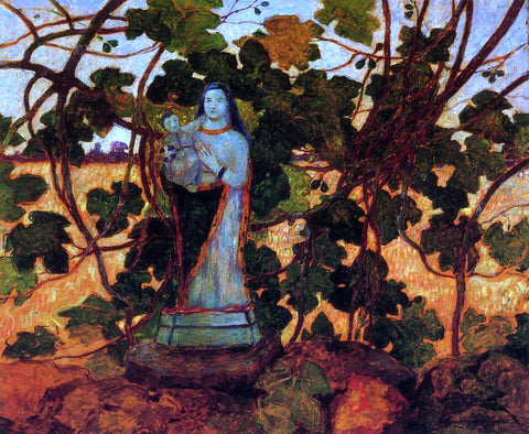 Ferdinand Du Puigaudeau The Virgin with Fig Tree - Hand Painted Oil Painting