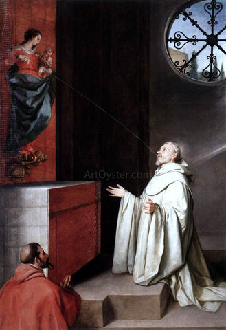 Alonso Cano The Vision of St Bernard - Hand Painted Oil Painting