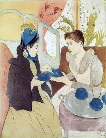 Mary Cassatt The Visit - Hand Painted Oil Painting