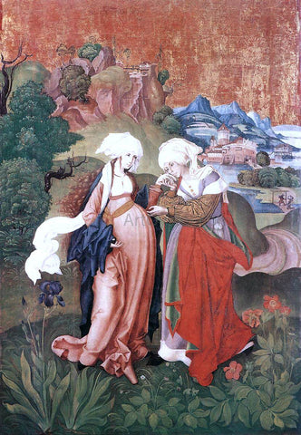 Master M S The Visitation - Hand Painted Oil Painting