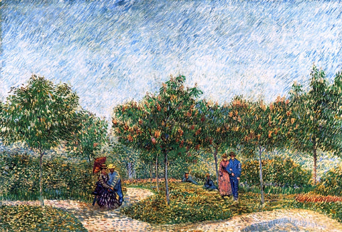 Vincent Van Gogh The Voyer d'Argenson Park in Asnieres - Hand Painted Oil Painting