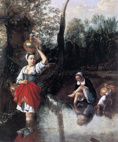 Jan Siberechts The Wager - Hand Painted Oil Painting