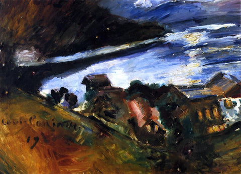 Lovis Corinth The Walchensee in the Moonlight - Hand Painted Oil Painting