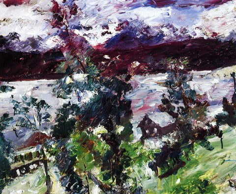 Lovis Corinth The Walchensee, New Snow - Hand Painted Oil Painting