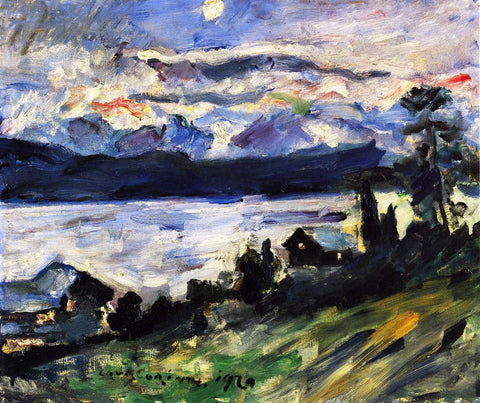 Lovis Corinth The Walchensee on Saint John's Eve - Hand Painted Oil Painting
