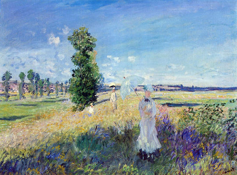Claude Oscar Monet The Walk, Argenteuil - Hand Painted Oil Painting