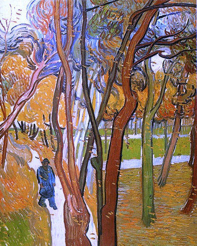 Vincent Van Gogh The Walk: Falling Leaves - Hand Painted Oil Painting