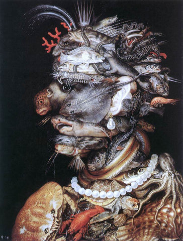 Giuseppe Arcimboldo The Water - Hand Painted Oil Painting