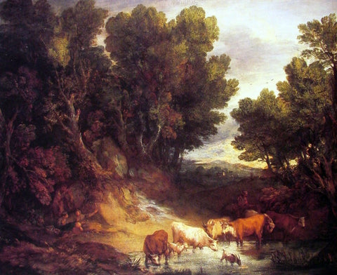 Thomas Gainsborough The Watering Place - Hand Painted Oil Painting