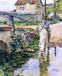 Theodore Robinson The Watering Place - Hand Painted Oil Painting