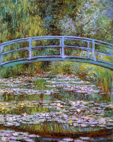 Claude Oscar Monet A Water-Lily Pond (also known as Japanese Bridge) - Hand Painted Oil Painting