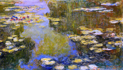 Claude Oscar Monet The Water-Lily Pond (detail) - Hand Painted Oil Painting