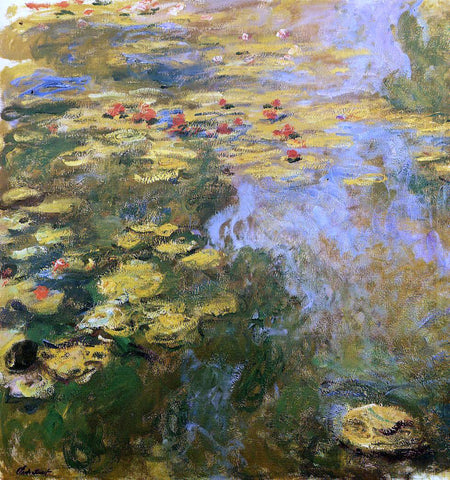 Claude Oscar Monet The Water-Lily Pond (left side) - Hand Painted Oil Painting
