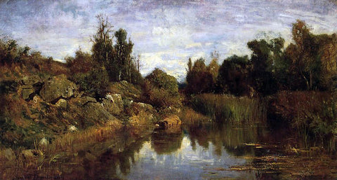 Charles Francois Daubigny The Water's Edge - Hand Painted Oil Painting