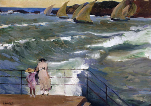 Joaquin Sorolla Y Bastida The Waves at San Sebastian - Hand Painted Oil Painting