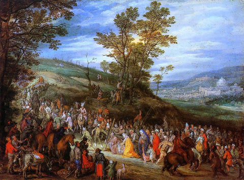 The Elder Jan Bruegel The Way of the Cross - Hand Painted Oil Painting