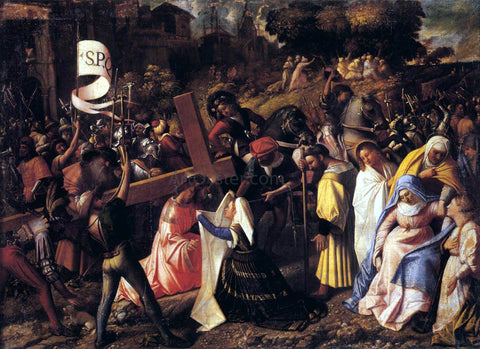 Giovanni Cariani The Way to Calvary - Hand Painted Oil Painting
