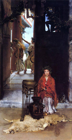 Sir Lawrence Alma-Tadema The Way to the Temple - Hand Painted Oil Painting
