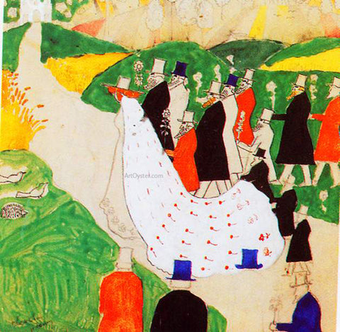 Kazimir Malevich The Wedding - Hand Painted Oil Painting