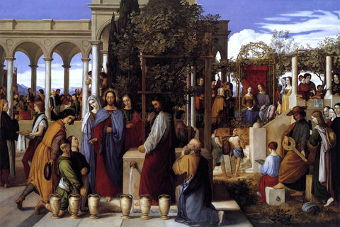 Julius Schnorr Von Carolsfeld The Wedding Feast at Cana - Hand Painted Oil Painting