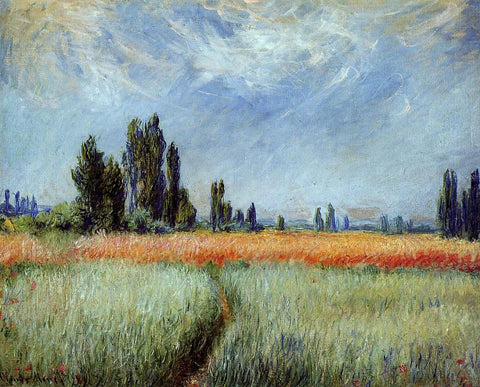 Claude Oscar Monet The Wheat Field - Hand Painted Oil Painting