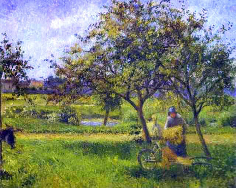 Camille Pissarro The Wheelbarrow - Hand Painted Oil Painting