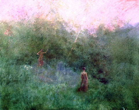 Thomas Wilmer Dewing The White Birch - Hand Painted Oil Painting
