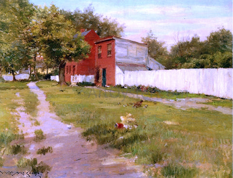 William Merritt Chase The White Fence - Hand Painted Oil Painting
