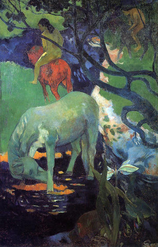 Paul Gauguin The White Horse - Hand Painted Oil Painting