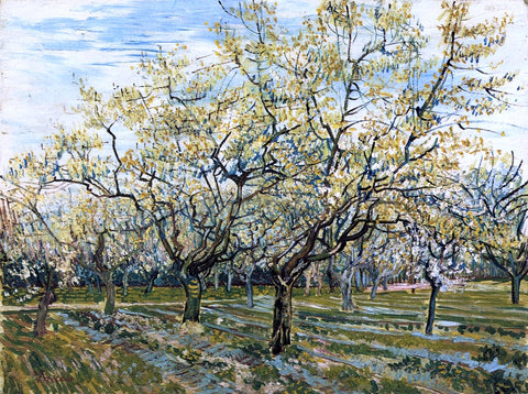 Vincent Van Gogh The White Orchard - Hand Painted Oil Painting