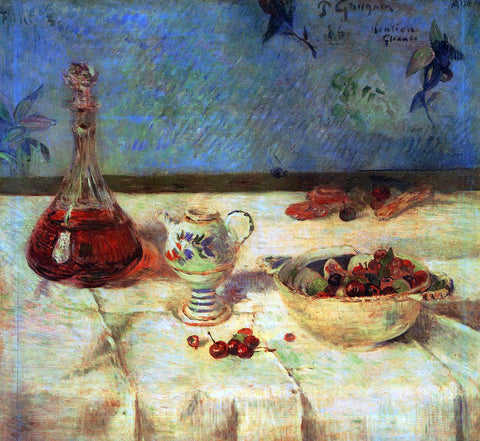 Paul Gauguin The White Tablecloth (also known as Still Life with Cherries) - Hand Painted Oil Painting
