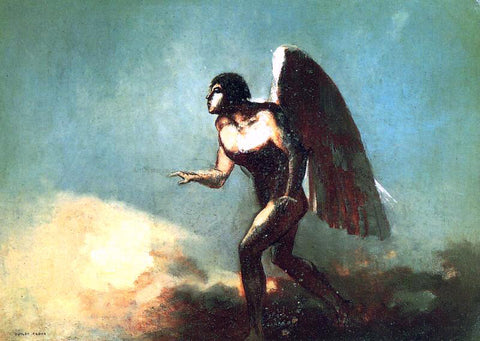 Odilon Redon The Winged Man (also known as The Fallen Angel) - Hand Painted Oil Painting