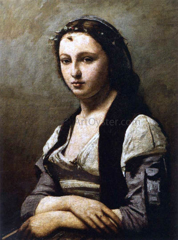 Jean-Baptiste-Camille Corot The Woman with the Pearl - Hand Painted Oil Painting