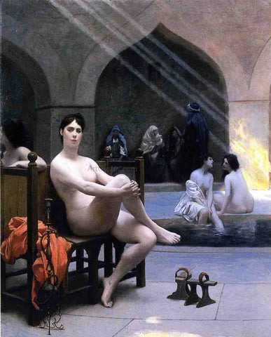 Jean-Leon Gerome The Women's Bath - Hand Painted Oil Painting