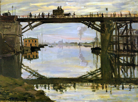 Claude Oscar Monet The Wooden Bridge - Hand Painted Oil Painting