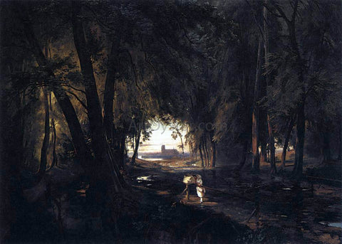 Carl Blechen The Woods near Spandau - Hand Painted Oil Painting