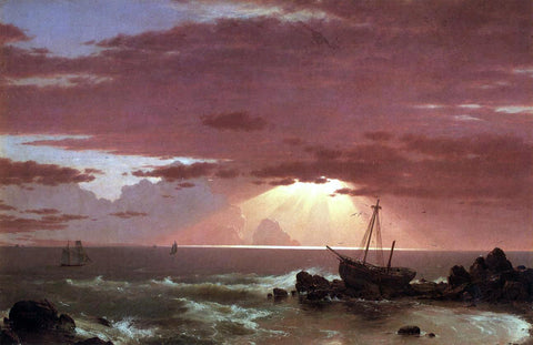 Frederic Edwin Church A Wreck - Hand Painted Oil Painting