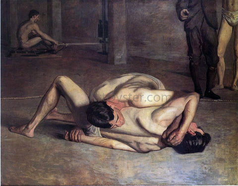 Thomas Eakins The Wrestlers - Hand Painted Oil Painting