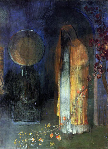Odilon Redon The Yellow Cape - Hand Painted Oil Painting