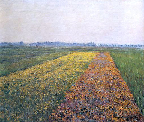 Gustave Caillebotte The Yellow Fields at Gennevilliers - Hand Painted Oil Painting