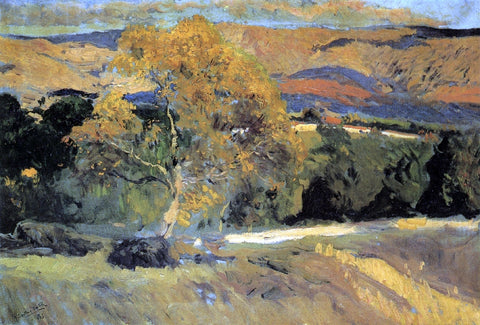 Joaquin Sorolla Y Bastida The Yellow Tree, La Granja - Hand Painted Oil Painting