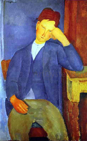 Amedeo Modigliani The Young Apprentice - Hand Painted Oil Painting