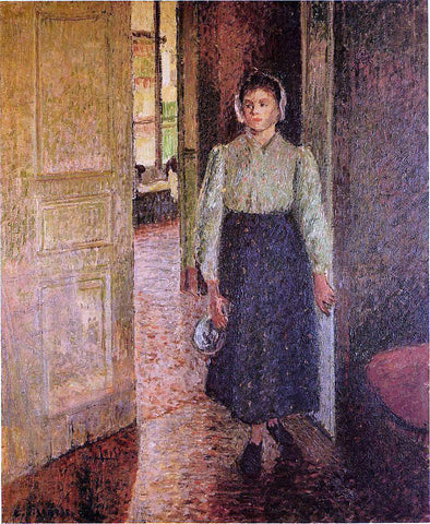 Camille Pissarro The Young Maid - Hand Painted Oil Painting